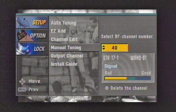 Digital tv manual tuning guide