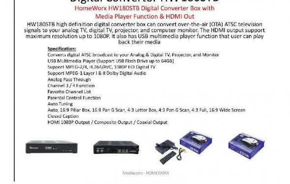 HomeWorx Digital Converter Box