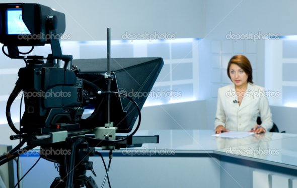 Television anchorwoman at