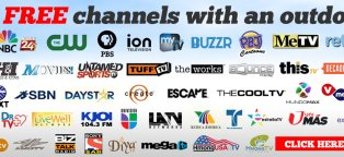 Free broadcast TV channels