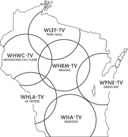 Wisconsin Public tv transmission coverage