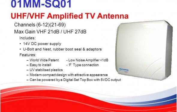 01MM-SQ01 UHF/VHF Amplified TV